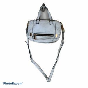 Botkier white shoulder crossbody purse leather